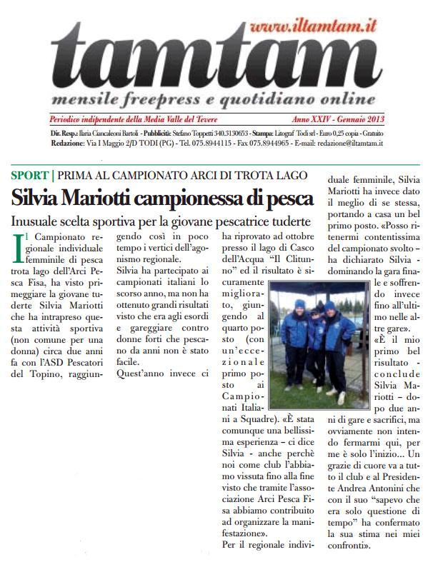 articolo TamTam - Silvia