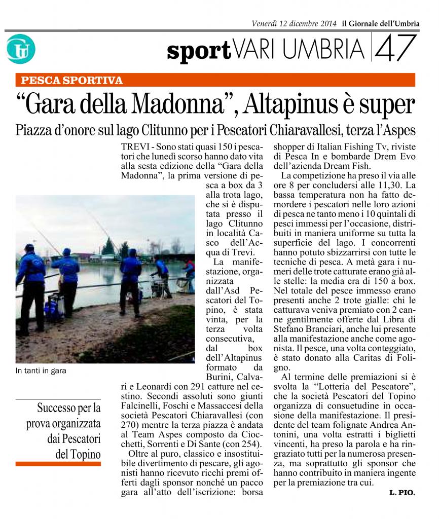 articolo giornale dell'umbria 12.12.2014