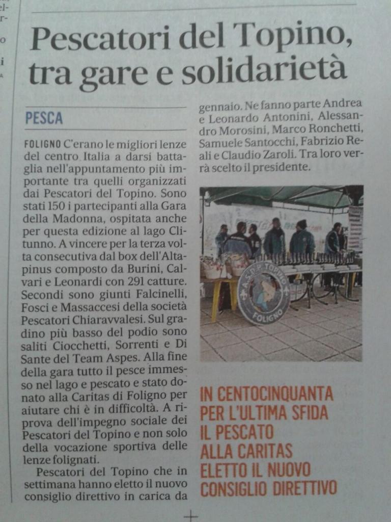 articolo Il Messaggero 14.12.2014