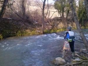 trota torrente fiume topino belloco