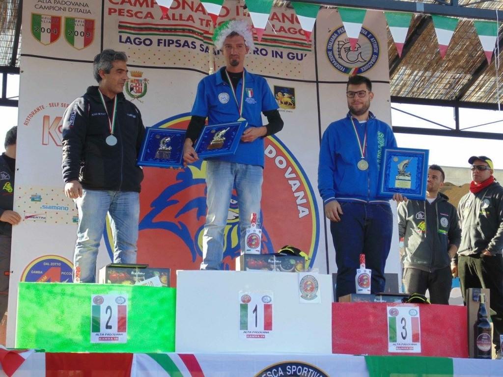 podio finale campionato italiano individuale fipsas 2015