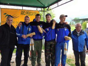 Report trota lago - Zonale centro Individuale Squadre Arci Pesca Fisa 2016 podio squadra